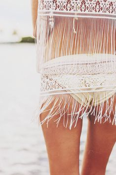 .cute fringe coverup