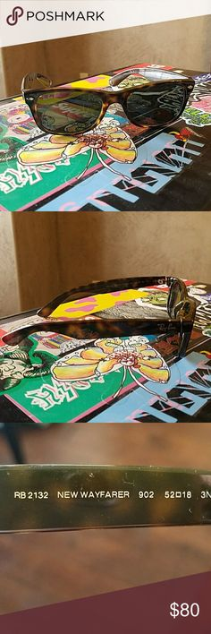 Ray Ban sunglasses Brown tortoise color. Mint condition. Comes w case. Ray-Ban Accessories Glasses