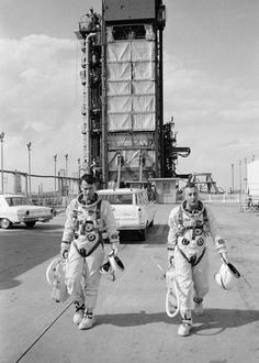 John Young and Gus Grissom. Just another day at the office.