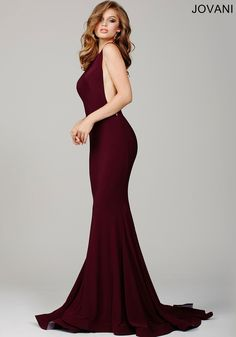 b9a69c3117 Burgundy Low Back and High Neck Long Wedding Guest Dress 37592