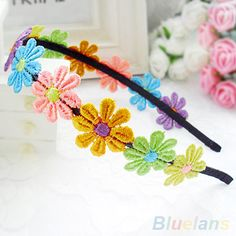 Cheap hair band headband, Buy Quality flower hair band directly from China hair band Suppliers: Hot Cute Children Girls Colorful Sunflower Lace Flowers Hair Band Headband Baby Hair Bands, Flower Hair Band, Kids Girls, Baby Kids, Lace Flowers, Cute Kids, Style Guides, Hot, Girl Outfits
