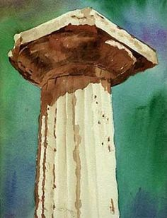 paintings of columns | Greek Column - Doric Style