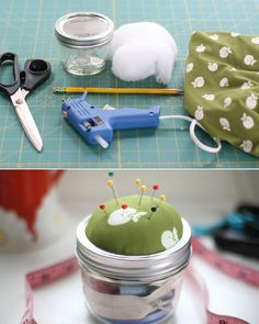 Cool Things To Do With Mason Jars- Sewing Kit
