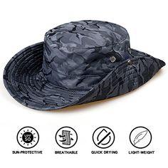 TAMINGTON Outdoor Boonie Sun Hat Wide Brim Breathable Solar Protection UPF  50+ Sun Cap Fishing ac90963868f9