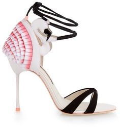 Pin for Later: Make Like Sophia Webster in These Fun Spring Sandals Sophia Webster Flamingo Frill Leather Sandals Sophia Webster Flamingo Frill Leather Sandals (£495)