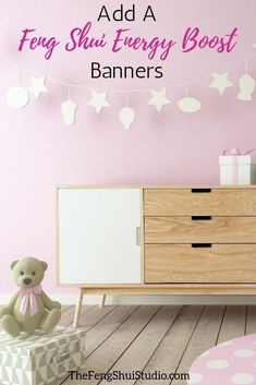 Banners and garlands are a Feng Shui Energy Boost that helps create vital Ch'i energy in any space. Feng Shui Basics, Feng Shui Principles, Feng Shui Tips, Nursery Modern, Rustic Nursery, Nursery Neutral, Feng Shui Studio, Feng Shui Design, Feng Shui Energy