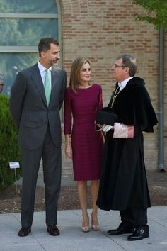30 September 2014 Opening of the University Year, Toledo King Felipe and Queen Letizia attended the opening of the University Year at the Fabrica de Armas Campus in Toledo, Spain