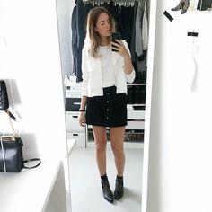 Black Button Skirt | Shop the look at fashiolista.com