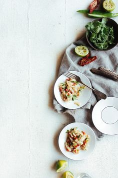 Ceviche de bacalhau com sultanas e tomate seco