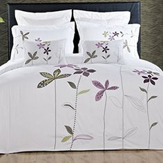 5PC FullQueen SouthGarden White Duvet Cover Set By Hotel Collection -- Check out this great product.