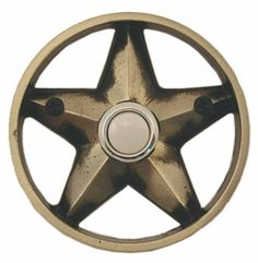 Waterwood Hardware Decorative Texas Lone Star Doorbell  Pewter From Cabinet  Knobs And More