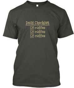 Daily Checklist  COFFEE Gym Shirts dce7c034747b