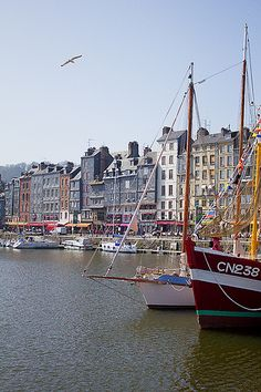 Honfleur, Normandy.  Charming little town at Normandy coastline. Dont miss the wonderful Saturday market in the windling streets with all kinds of local products.