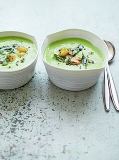 Summery pea soup with turmeric scallops | Jamie Oliver