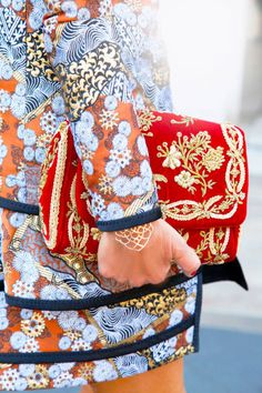Anna Dello Russo wearing mixed prints and channeling brocade (from @Elle Magazine US)