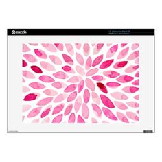 "Watercolor brush strokes  pink palette 15"" laptop skin - modern gifts cyo gift ideas personalize"
