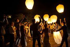 Farolillos voladores bodas