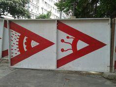 arte nos tapumes de Laranjeiras RJ
