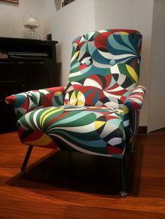 Marimekko tissue on a mid century chair