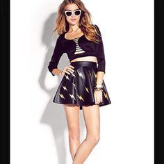 Brand new lightning bolt skirt sz small Brand new forever 21 lightning bolt skirt sz small skater skirt fit Forever 21 Skirts