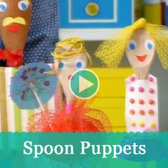 These silly spoon puppets are made with things you can easily find tucked in your pantry! #craft