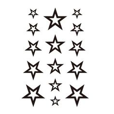 [Visit to Buy] Newly Design Hollow Solid Black Five-pointed Star Hollow Waterproof Temporary Tattoo Stickers Small Star Tattoos, Tattoos For Guys, Tattoo Set, Arm Band Tattoo, Tattoo 2016, Tattoo Word Fonts, Small Tattoos With Meaning Quotes, Tattoo Prices, Star Tattoo Designs