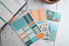 Let's Go Camping MINI Weekly Planner Kit for Erin Condren, Happy Planner, & More - MC19