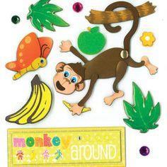 Monkey Around Dimensional Sticker _30-577527