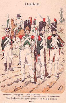 I soldati del primo Tricolore