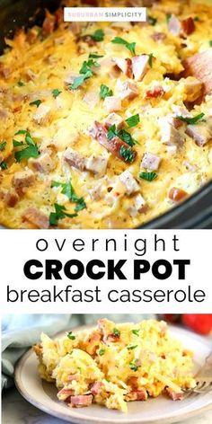 Breakfast Crockpot Recipes, Slow Cooker Breakfast, Crockpot Dishes, Crock Pot Cooking, Slow Cooker Recipes, Cooking Recipes, Healthy Recipes, Eggs Crockpot, Crockpot Breakfast Casserole Overnight