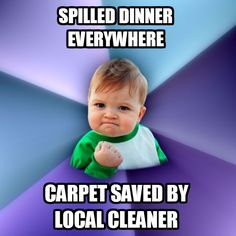 Carpet cleaners to the rescue!