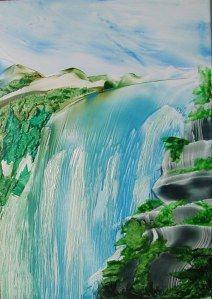 HEB Mountain waterfall