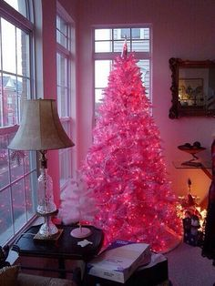 Cotton Candy Pink Christmas Tree