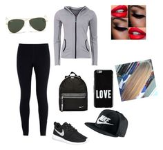 """Untitled #95"" by mkcorniel on Polyvore featuring NIKE, Givenchy, Green Lamb and Ray-Ban"