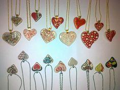 viel Herz für Keramik Arrow Necklace, Pendant Necklace, Ceramics, Jewelry, Heart, Ceramica, Pottery, Jewlery, Jewerly