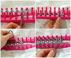 DIY Infinity Scarf with a Knitting Loom