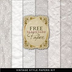 Far Far Hill - Free database of digital illustrations and papers: Freebies Vintage Style Papers Kit