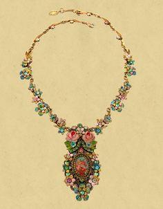 Romantic pastel necklace, Michal Negrin.