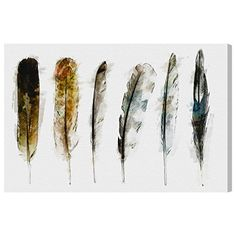 """The Oliver Gal Artist Co. """"Plume Di Nuit"""" Canvas Art, 45""""..."""