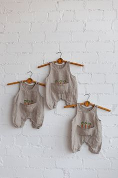 Linen Jumpsuit Natural Baby Overall Linen Overall Baby Baby Jumpsuit, Baby Dress, Sewing For Kids, Baby Sewing, Baby Overall, White Linen Shirt, Jumpsuits For Girls, Clothes Crafts, Natural Baby