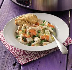 Chicken Pot Pie with Chive Biscuits Recipe