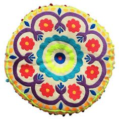 Tibet 40cm Round Cushion, Oranges