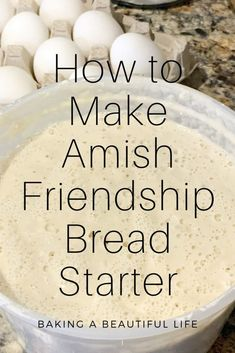 How to Make your Own Amish Friendship Bread Starter ~ Amy Marie Sourdough Bread Starter, Sourdough Recipes, Amish Bread Recipes, Recipe For Amish Bread Starter, Amish Sweet Bread Recipe, Best Amish Recipes, Breakfast Bread Recipes, Favorite Recipes, Pan Amish