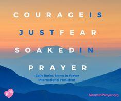 Encouragement to keep praying from Mom in Prayer President Sally Burke