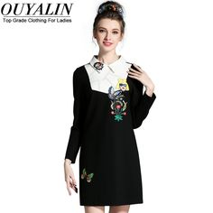 L- 5XL White Collar Autumn Black Dress Long Sleeve Slim Cut Short Mini Pencil Oh Yeah http://www.artifashion.net/product/l-5xl-white-collar-autumn-black-dress-long-sleeve-slim-cut-short-mini-pencil/ #shop #beauty #Woman's fashion #Products