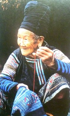 Hmong seamstress. The Hmong people are an ethnic group in several countries, believed to have come from the Yangtze River basin area in southern China.