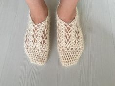 Lace slippers, Hand Knitting Home Slippers, Hand Knit Turkish Socks Slippers, Crochet slippers, Knitted home shoes, Authentic Clothing by HeartBeadHeartBead on Etsy