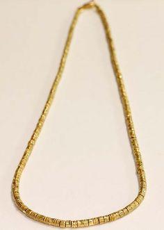 87598a8cad9b Cadena de oro 18k mate con barriles estilo etrusco   Tresor París
