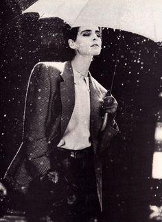 Giorgio Armani, Harper's Bazaar, September 1984. Photograph by Aldo Fallai.