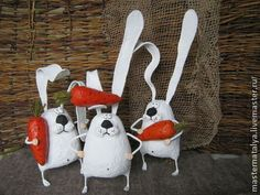 игрушка из папье-маше зайчик - зайка,заяц,морковка,русский стиль,русский сувенир